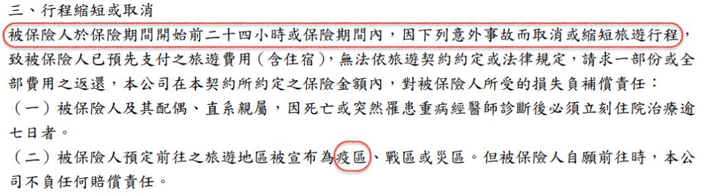 武漢肺炎 旅平險 旅遊取消 行程取消 華南產物